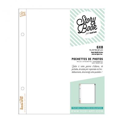 """Pochettes 6x8"""" Story Book - Pleines zippées"""