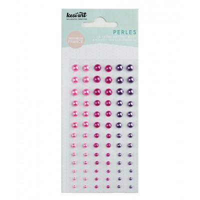 Demi-perles nacrées KesiArt - Rose Fuchsia Violet