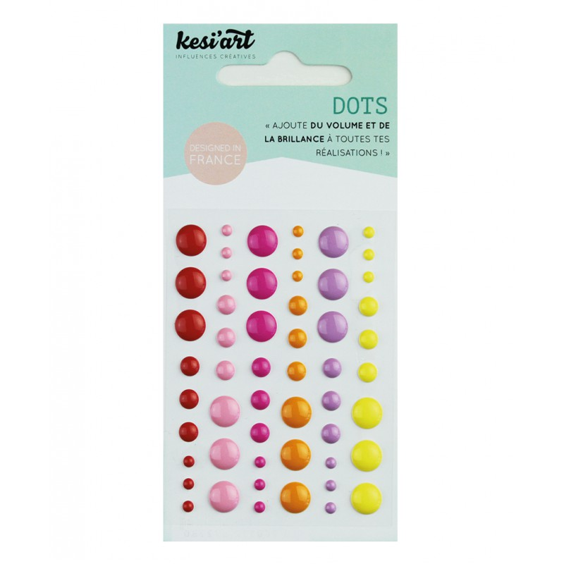 Dots KesiArt - Rouge Rose Orange Jaune