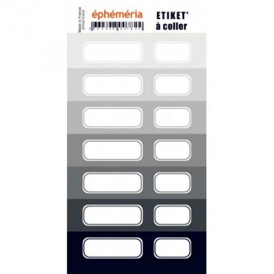Stickers Ephemeria - 7 nuances de gris