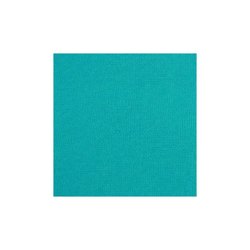 Cardstock texturé canvas - Coloris Turquoise Foncé