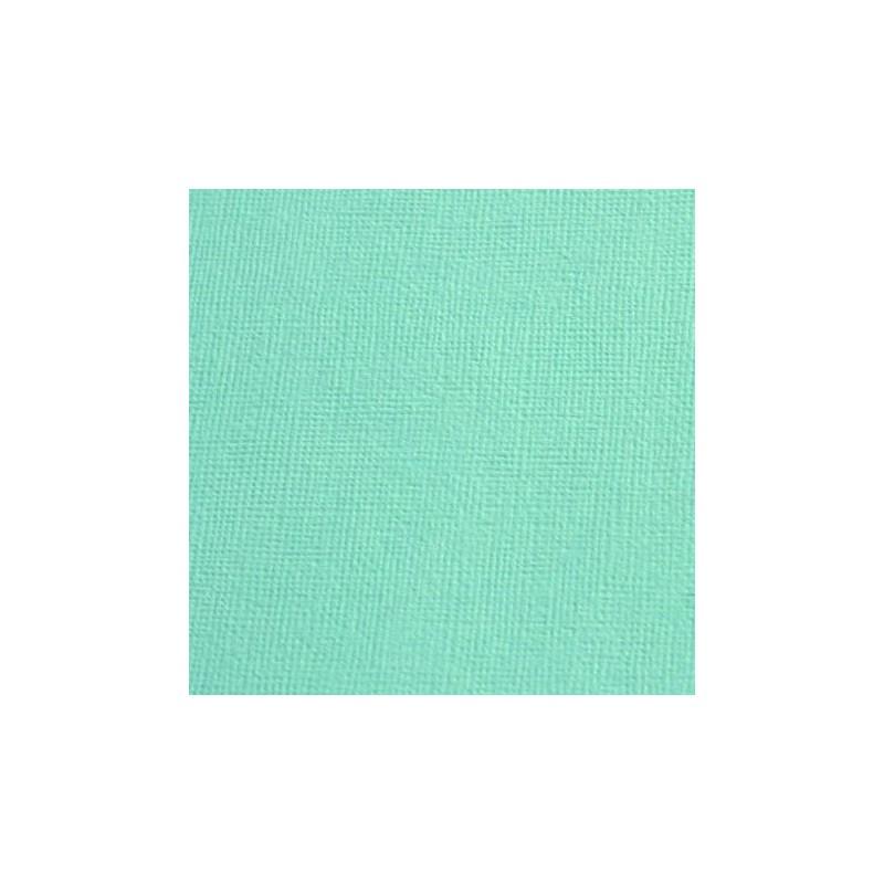 Cardstock texturé canvas - Coloris Vert d'eau