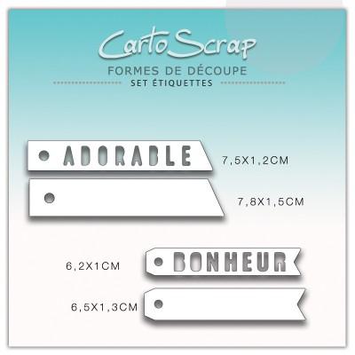Dies CartoScrap - Set Étiquettes