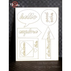 Chipboards 13@rts - Color Basic Words