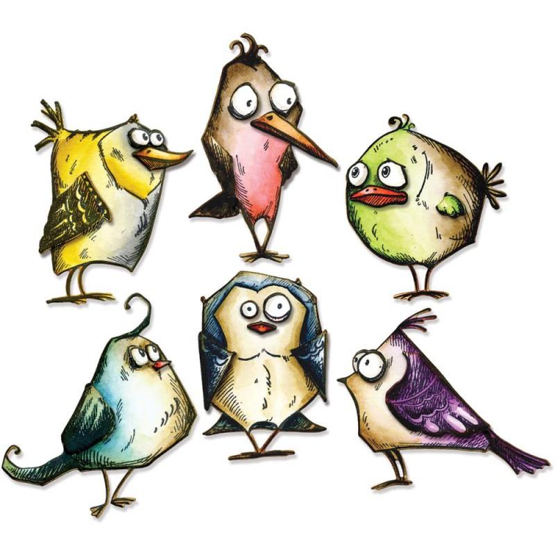 Dies Sizzix Thinlits by Tim Holtz - Bird Crazy