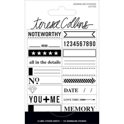 Stickers Teresa Collins Signature Essential - Noir & Blanc