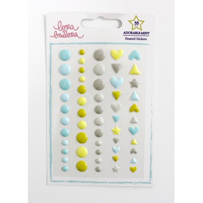Enamel Shapes Lora Bailora - Adorable Mint