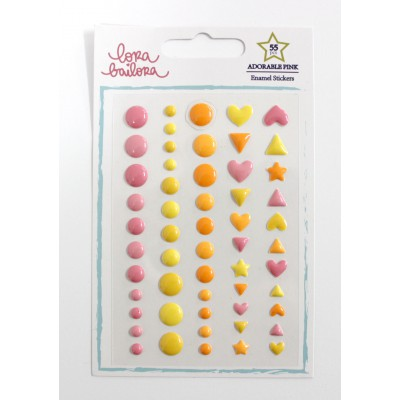 Enamel Shapes Lora Bailora - Adorable Pink