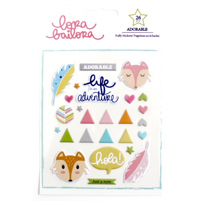 Puffy Stickers Lora Bailora - Adorable