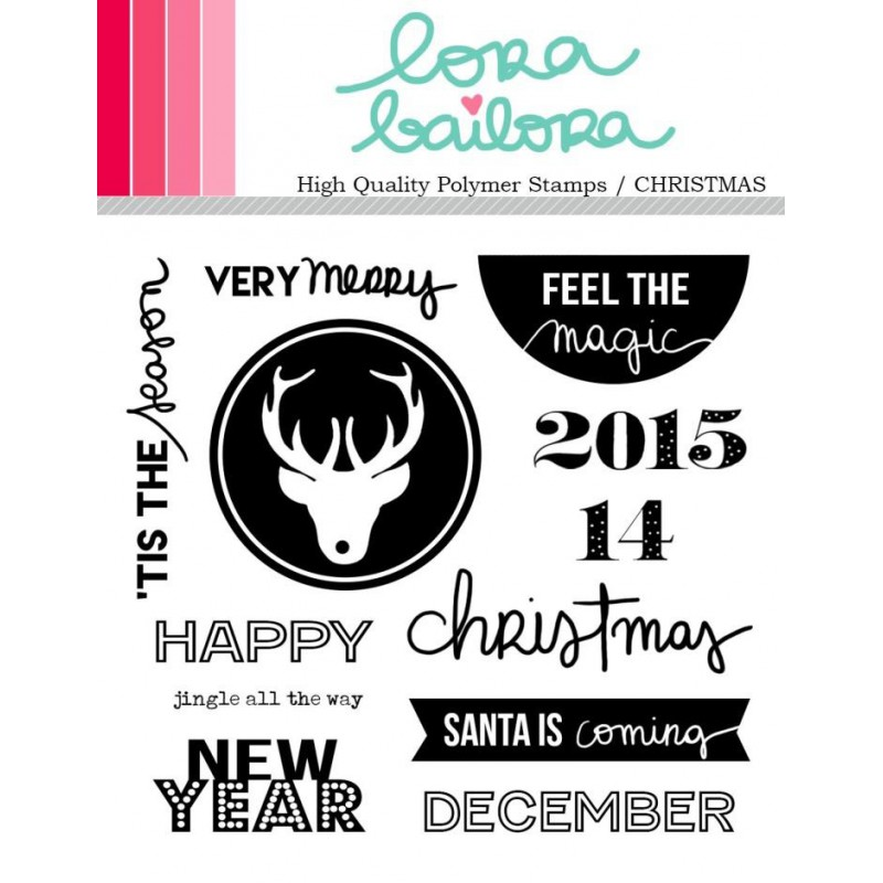 Tampons clear Lora Bailora - Christmas