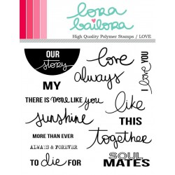 Tampons clear Lora Bailora - Love
