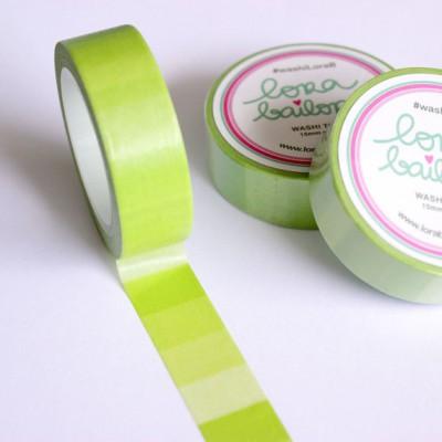 Washi Tape Lora Bailora - Dégradé vert