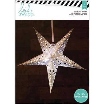 Lanterne en papier - Étoile 5 branches 43 cm - Blanc