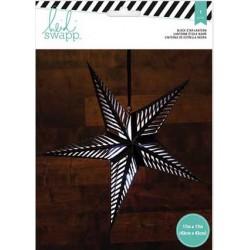 Lanterne en papier - Étoile 5 branches 43 cm - Noir