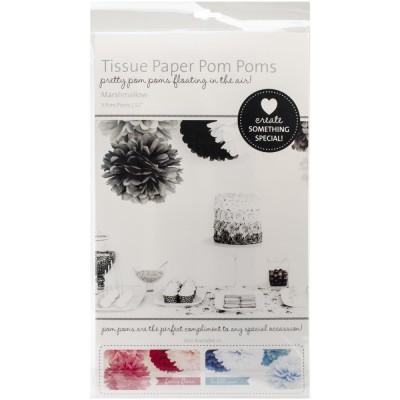 Pompoms en papier - Marshmallow