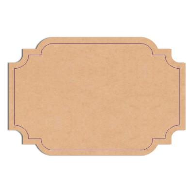 Etiquette en bois 4x6 cm
