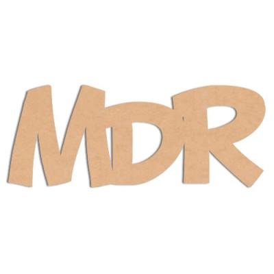 """Mot en bois """"MDR"""""""