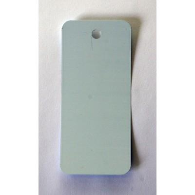 Etiquette blanche en métal 4.5x10 cm