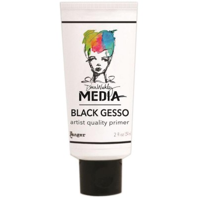 Gesso noir Dina Wakley 59 mL (tube)