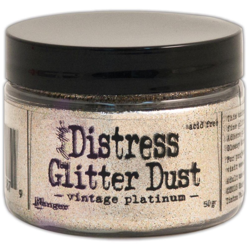 Distress Glitter Dust - Vintage Platinum