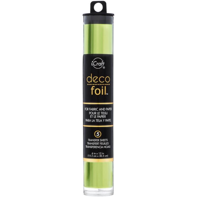 Deco Foil - Feuilles transfert métallisées - Vert Citron / Lime