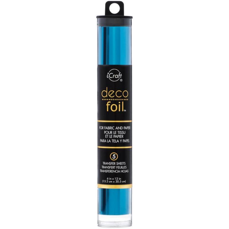 Deco Foil - Feuilles transfert métallisées - Bleu Océan