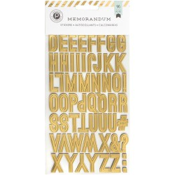 Stickers alphabets Memorandum - Noir, Blanc & Or