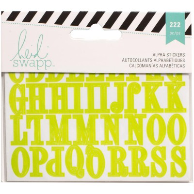 Alphabets stickers Heidi Swapp 3 couleurs