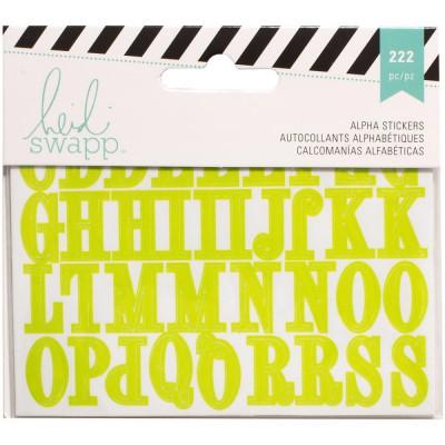 Alphabets stickers Heidi Swapp 3 couleurs