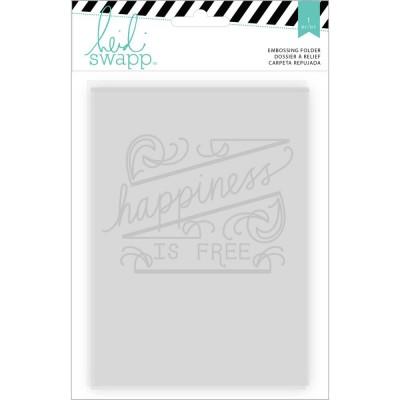 Pochoir de gaufrage Heidi Swapp - Happiness