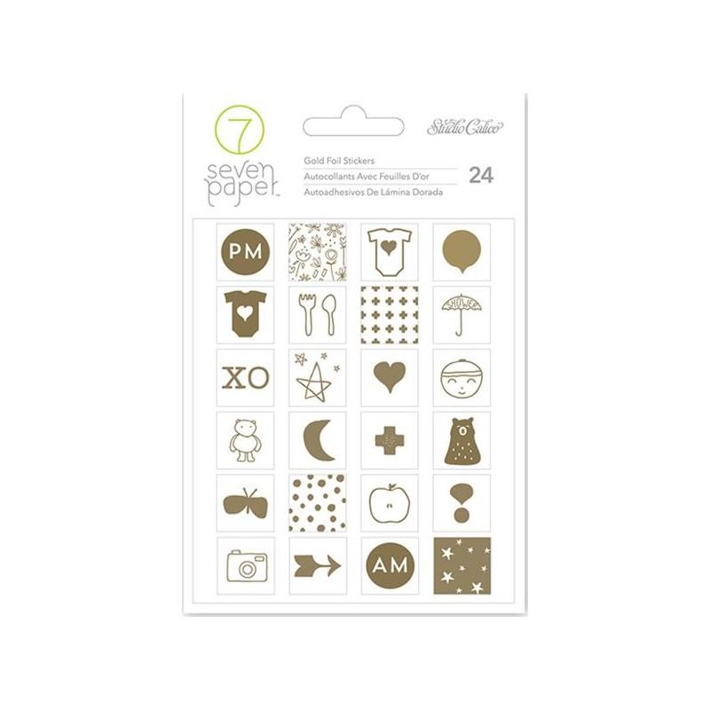 Stickers Clara Foil Seven Paper