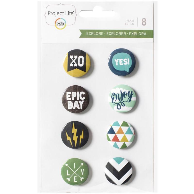 Badges Project Life 2.4 cm - Explore