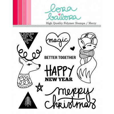 Tampons clear Lora Bailora - Merry Christmas