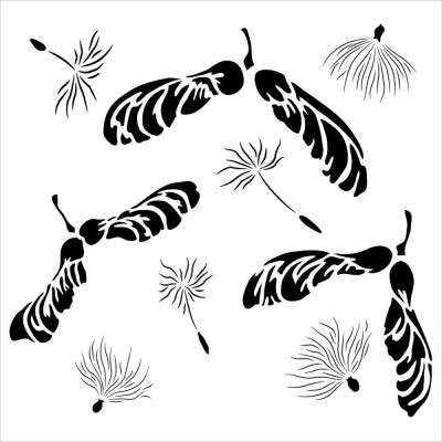 Mask  Crafter's Workshop 15x15 cm - Mini Falling Seeds