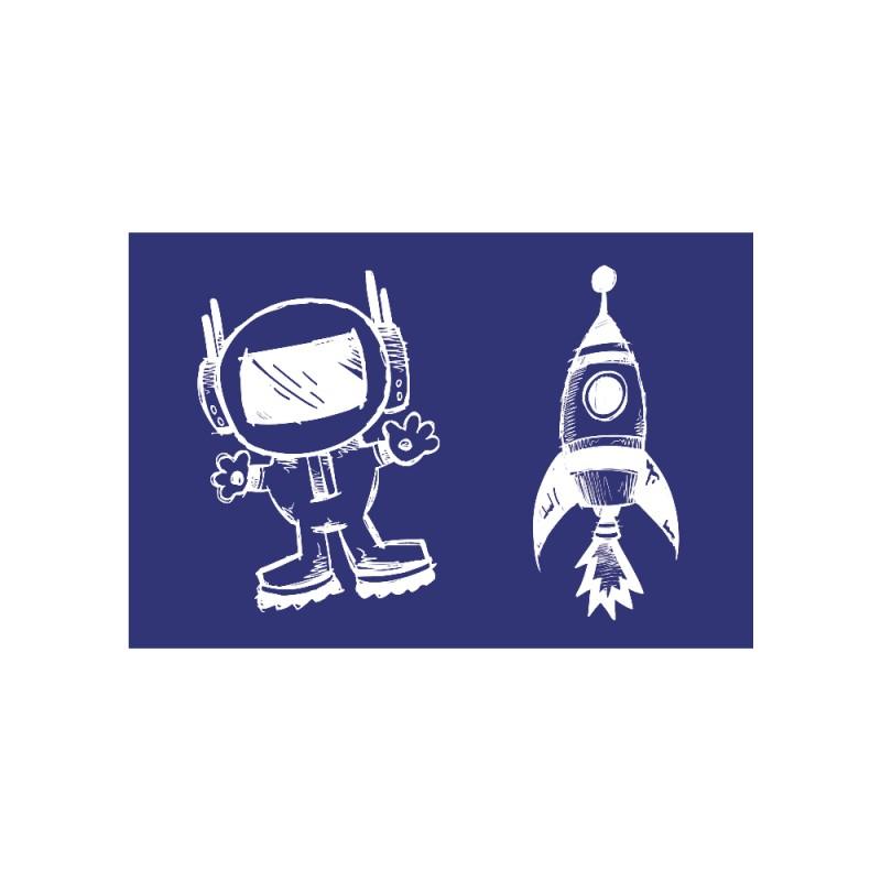 Pochoir de sérigraphie Rayher - Astronaute + Fusée