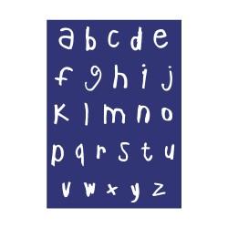 Pochoir de sérigraphie Rayher - Alphabet minuscules
