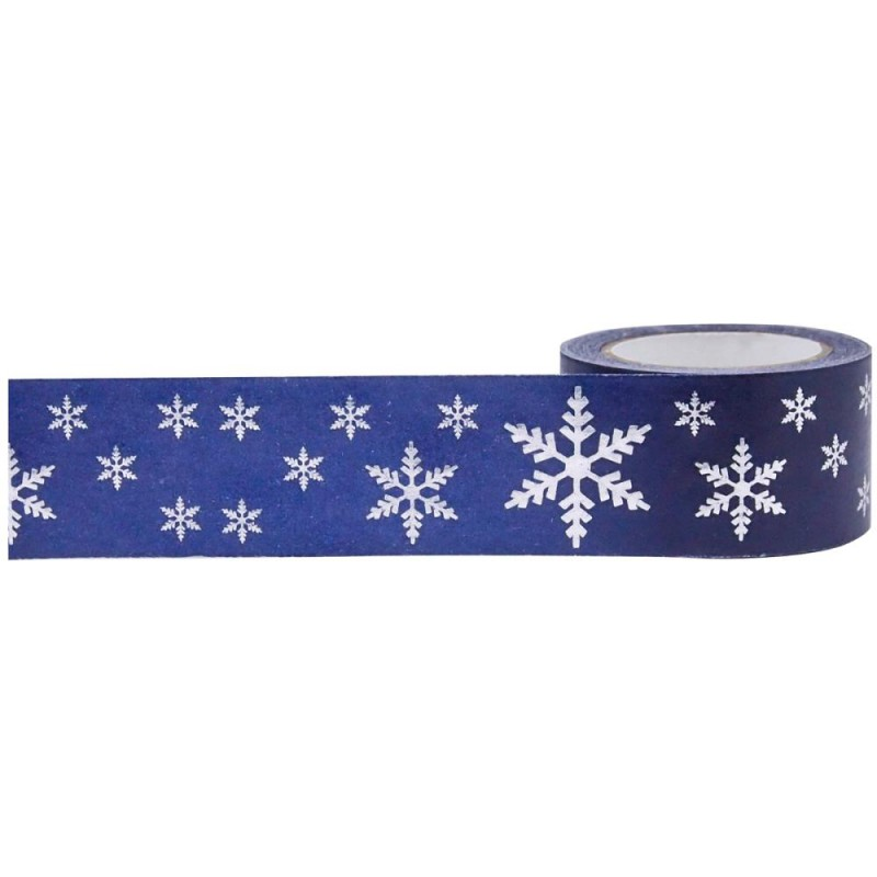 Foil Tape - Snowflakes 25mm