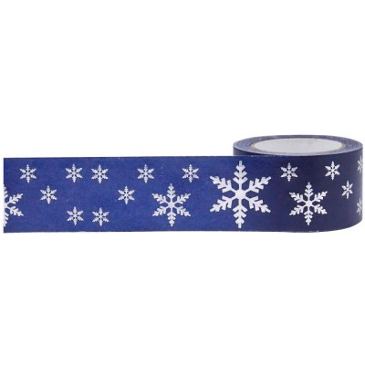 Foil Tape - Snowflakes 25mm