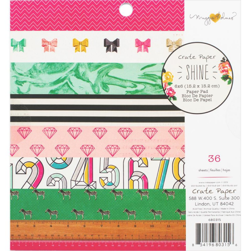 Mini Pack 15x15 - Crate Paper - Maggie Holmes - Shine