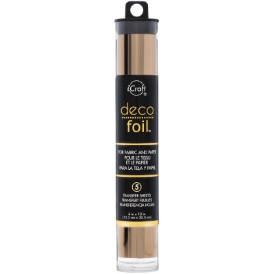 Deco Foil - Feuilles transfert métallisées - Rose Doré