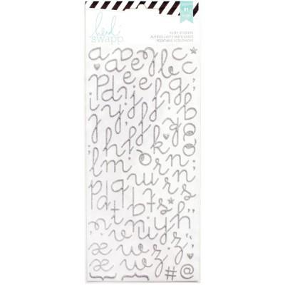 Alphabet Puffy pailleté Heidi Swapp - Argent