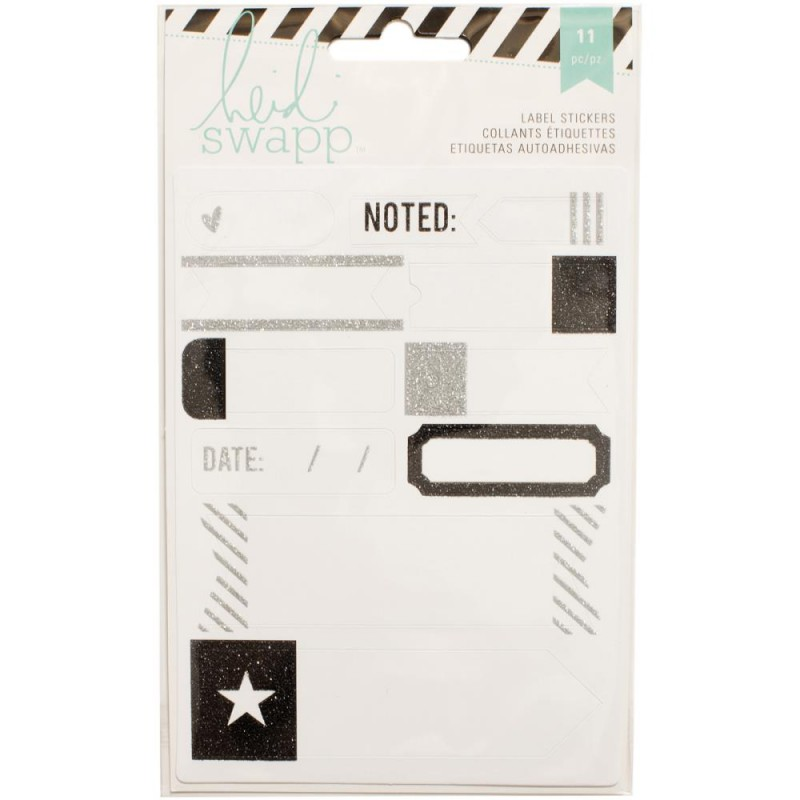 Stickers Labels Heidi Swapp - Noir