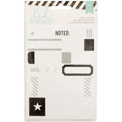 Stickers Labels Heidi Swapp - Noir