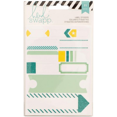 Stickers Labels Heidi Swapp - Turquoise