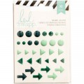 Stickers Enamel Shapes Heidi Swapp - Turquoise
