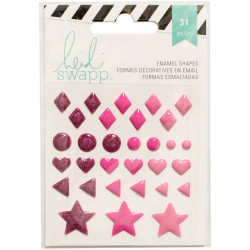 Stickers Enamel Shapes Heidi Swapp - Rose