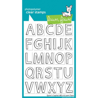 Tampons clear Lawn Fawn - Quinn's Capital ABCs