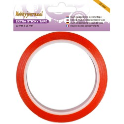 Adhésif double-face rouge - Extra Sticky Tape - 15 mm