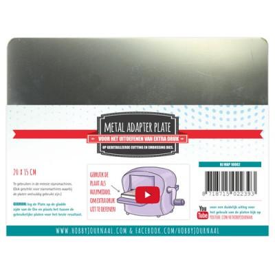 Plaque métal adaptateur 15x20 cm