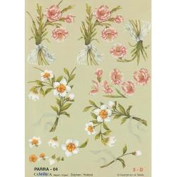 Image Carterie 3D - Branches de fleurs avec ruban